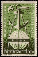 Portugal, Sc , SG 1065 Mint, Not Hinged - 1952 1e.  - Anniversary, NATO, Anchors - Sin Clasificación