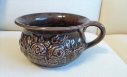 Vintage GULDKROKEN HJO 7404/1 Sweden - Swedish Home Decor Brown VASE Flower Pot Bowl - Ceramics & Pottery