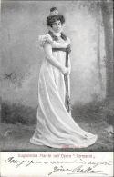 """[DC5532] CARTOLINA - RARA - GUGLIELMINI MARCHI NELL'OPERA """"GERMANIA"""" - Viaggiata 1902 - Old Postcard - Artisti"""