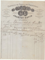 Jura, St Claude, Fabrique De Pipes Et De Tabatières Jeantet David 1889 (2 Scans) - France