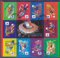 France Oblitération Cachet à Date BF N°  19 (3010/12 + 3074/76 & 3130/31a) Coupe Monde De Football 1998, Actions De Jeu - Sheetlets
