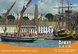 CPM - J - FINISTERE - RENDEZ VOUS A BREST EN 2016 ! - FETE MARITIME INTERNATIONALE - Brest