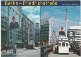 Cartolina - GERMANIA - GERMANY - Deutschland - ALLEMAGNE - Postkarte - Postal Card - 2 VIEWS Of CHECKPOINT CHARLIE FR... - Mitte