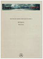 MERCEDES CLASSE E REFERENCE ET PRESTIGE CATALOGUE 9 PAGES 1994 Format A4 FRANCE - Publicités