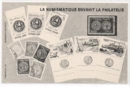 La Numismatique Envahit La Philatélie - Fac Similé Timbres Et Pièces De Monnaie     (72079) - Monnaies (représentations)