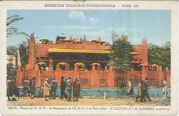 CPA 75 - Paris - Exposition Coloniale Internationale - 1931 - Palais De L'AOF - Restaurant Et Pièce D'eau - Tentoonstellingen