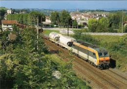 CPM LE RAIL USSELLOIS N° 577 BB 26218 Train De Marchandises  à  SEYSSEL CORBONOD 01 - Trenes