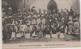 PREMIERS COMMUNIANTS CAMBODGIENS Dos Vert - Cambodia