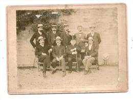 JERSEY GUERNESEY  ??? Notables -  19cm X 13cm   Avant 1900 (supposé 1895 Deux Photos Datées Dans Le Lot) - Personnes Anonymes
