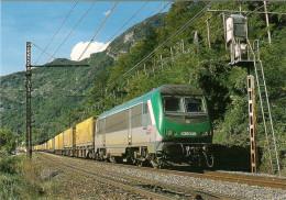 CPM LE RAIL USSELLOIS N° 563 BB 436049 BRISON ST INNOCENT 73 - Trenes
