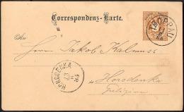 Österreich 1885 Auslands-GSK Mit Glasklarem K1 TROPPAU (Mährisch Schlesien) > Horodenka, Galizien - Brieven En Documenten
