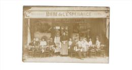 CARTE PHOTO ... A IDENTIFIER ... RPPC ... COMMERCE CAFE RESTAURANT BIERE DE L ESPERANCE