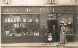 CARTE PHOTO ... A IDENTIFIER ... RPPC ... COMMERCE DUPUIS AU 16 a ... ARTICLE DE LAMPE CAFETIERE CASSEROLE
