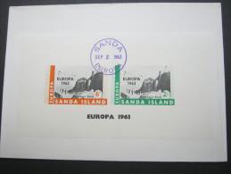 1963 , SANDA , EUROPA Sheet On Cover  ,   2 Scans - Europa-CEPT