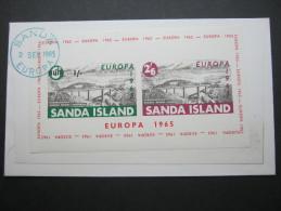 1965 , SANDA , EUROPA     Sheet On Cover  ,   2 Scans - Europa-CEPT