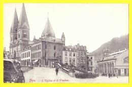 * Spa (Liège - Luik - La Wallonie) * L'église Et Le Pouhon, Pont, Carrosse, Rare, Restaurant, Old, CPA, TOP, Belle Carte - Spa