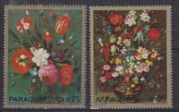 Paraguay 1972 Flowers 2v ** Mnh (17406) - Paraguay