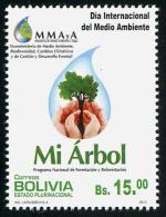 BOLIVIA ,2013,MNH,TREES, ENVIRONMENT DAY,1v - Milieubescherming & Klimaat