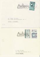 ENSEMBLE DE 4 LETTRES D'ANDORRE 1986.87 - Lettres & Documents