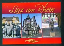 GERMANY  -  Linz Am Rhein  Multi View  Used Postcard As Scans - Linz A. Rhein