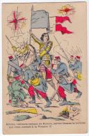 Jeanne D´arc Dessin Lafon Patriotique Guerre 14-18 1914 état Superbe - Historia