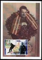 Republic De Guinee Olympics Hjalmar Andersen On Kind Of Maximcard Or Memorycard 2001 - Winter 1952: Oslo