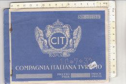PO7445C# CARNET BIGLIETTI TRENI - COMPAGNIA ITALIANA TURISMO CIT BOLZANO GRIES 1937