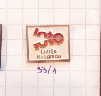 LOTTERY - LOTO GAME OF BELGRADE YUGOSLAVIA / SPORT PROGNOSIS, TICKETS Loterie Sportifs TOTO, Loteri BINGO - Spelletjes
