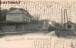 MONTGERON INTERIEUR DE LA GARE TRAIN LOCOMOTIVE 91 - Montgeron
