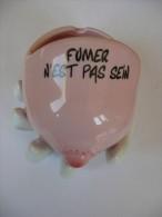 Cendrier Humoristique - Porcelaine