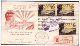 Antillen / Antilles 1957 FDC 1-1M Mental Public-health Closed - Curazao, Antillas Holandesas, Aruba