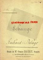 87 - SAINT MARTIN TERRESSUS- SAINT LEONARD NOBLAT- ECHANGE EMILE RUCHAUD - FRADON- DELAGE PLANTADIS -OCTAVE BACHET 1894 - Manuscrits