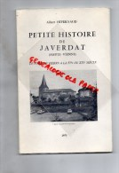 87 -PETITE HISTOIRE DE JAVERDAT- ALBERT HIVERNAUD - 1973 - Limousin