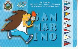 "SAN MARINO - Olympic Flame, IX Giochi Dei Picolli Stati D""Europa(TD), Tirage 9000, 05/01, Mint - San Marino"
