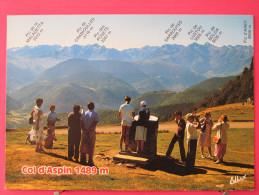 65 - Col D'Aspin - Table D'orientation Et Chaîne Des Pyrénées - Scans Recto-verso - France