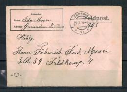 K.u.k., Feldpostkartenbrief (1916) Von Gmunden Nach Inf. Reg. 59 Gelaufen - Oblitérés
