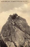 CARTOLINE D'EPOCA  DI AU SOMMET DE LA DENT DU GEANT  RARA VIAGGIATA NEL 1913 - Italia