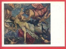 152323 / Italy  Art  Jacopo Robusti Tintoretto - The Origin Of The Milky Way , NUDE WOMAN Peacock EAGLE ANGELS - Russia - Pintura & Cuadros