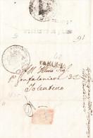Umbria Prefilatelica Città Di Castello 6 Giurno 1823 Completa Di Testo Interno - 1. ...-1850 Prephilately
