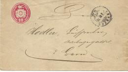 1878 10 Rp. Tüblibrief Von Aarberg Nach Bern - Ganzsachen