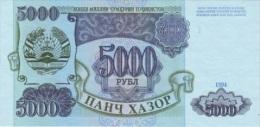 TAJIKISTAN 5000 Rubles 1994 P- 9A  **UNC** - Tayikistán