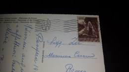 SP-000330 CARTOLINA PAESAGGISTICA VIAGGIATA DI CITTA´ DEL VATICANO - AFFRANCATURA E TIMBRI - Storia Postale