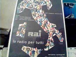 RAI  RADIO   CONCORSO  RADIO PER TUTTI  ILLUSTRATA  POLLONI E ROSSETTI  ANNI 50 S1950 EM9136 - Publicidad