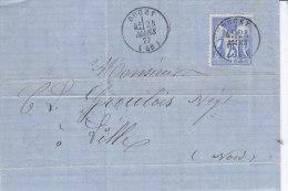 Manche,  DUCEY, Cachet 16, Belle Lettre Avec Correspondance - Marcophilie (Lettres)