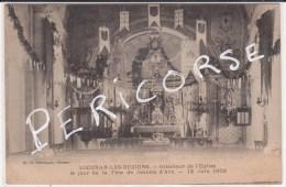 34  Lieuran Les Beziers  Interieur De L'eglise  Le Jour De La Fete Jeanne D'arc 13 Juin 1909 - Otros Municipios