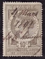Timbre Fiscal 1891 - Quittances  Reçus Et Décharges  N°  6 - Oblitéré - Fiscaux