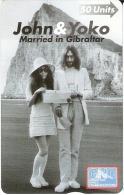 Nº 42 TARJETA DE GIBRALTAR DE JOHN LENNON Y YOKO   (NUEVO-MINT) - Gibraltar