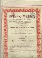 Tournai   USINES MEURA ann�e 1922