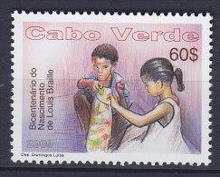 Cape Verde 2009 Mi. 941    60 E Louis Braille, Blind Writing Inventor MNH** - Islas De Cabo Verde