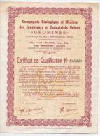 """Cie Géologique Et Minière Des Ingénieurs Et Industriels Belges """"Géomines"""" - Afrique"""
